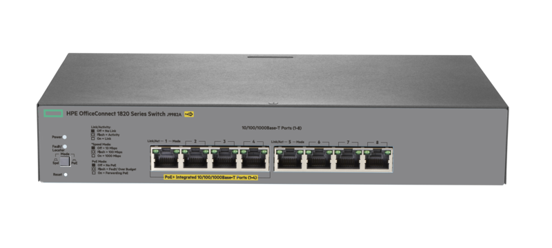 HPE OfficeConnect 1820 8G PoE+ (65W) Switch